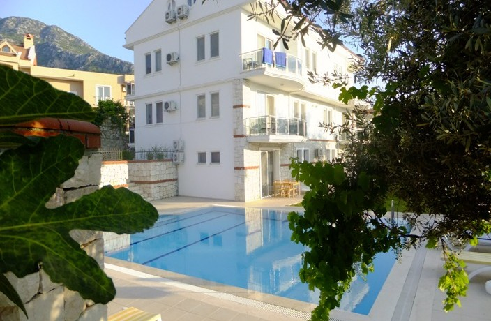 Apartments and pool 1