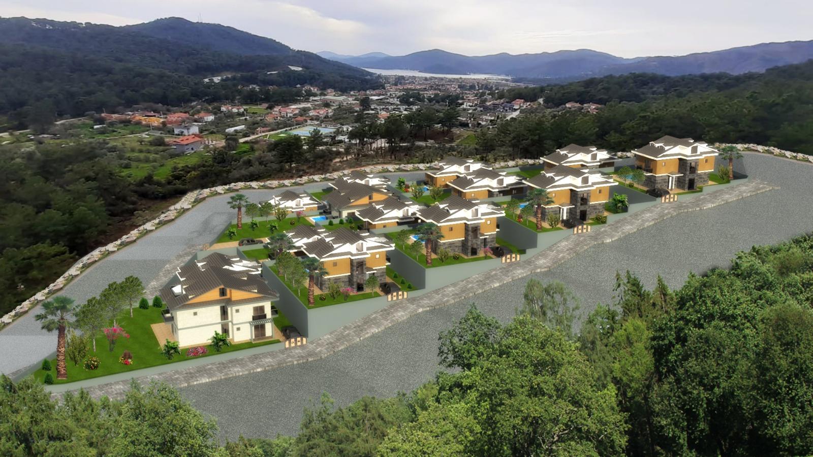 Off Plan 4 Bedroom Luxury Villas for Sale in Gocek