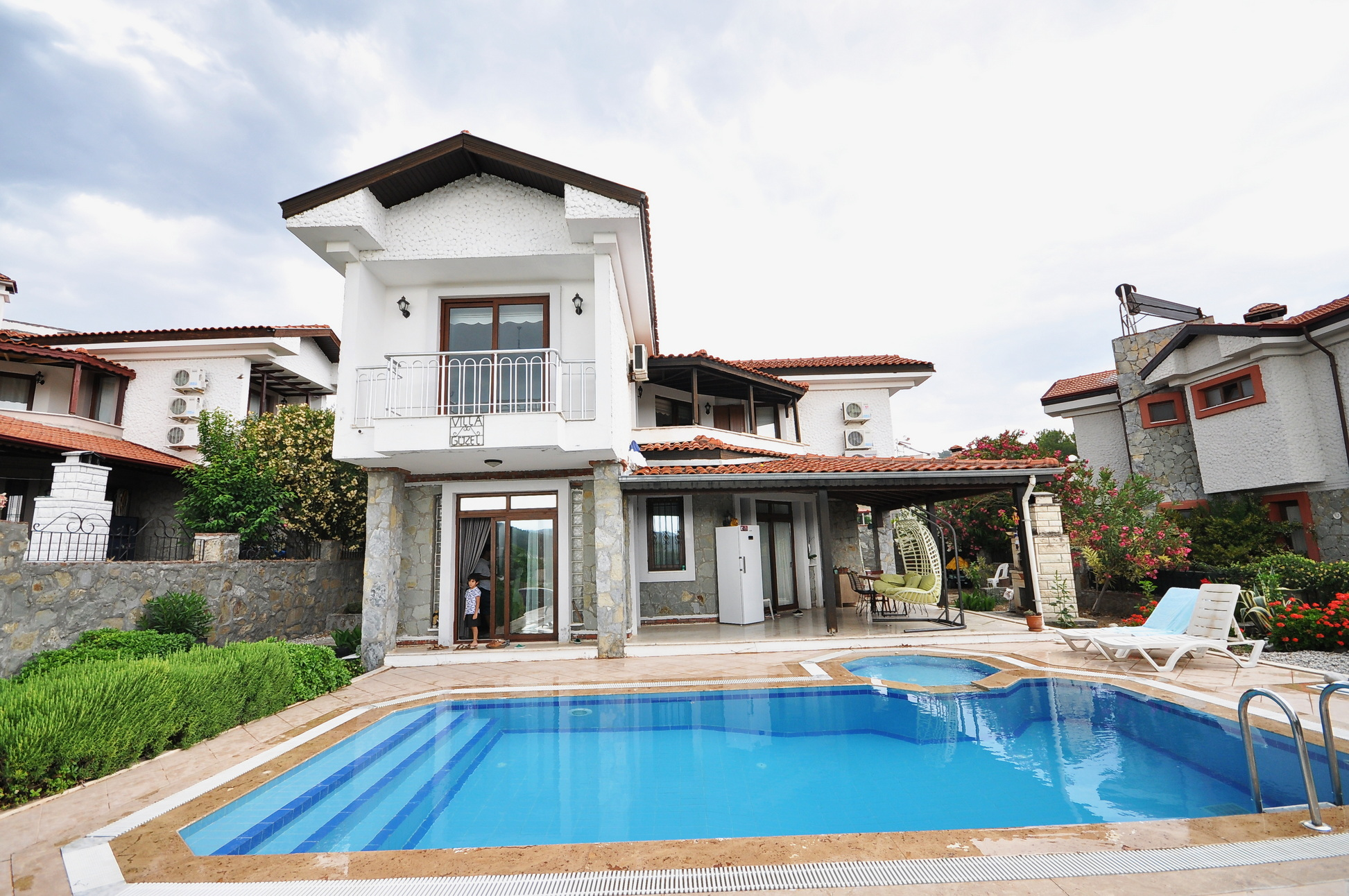 Traditional 4 Bed Stone Built Detached Villa with Private Pool & Garden in Seydikemer