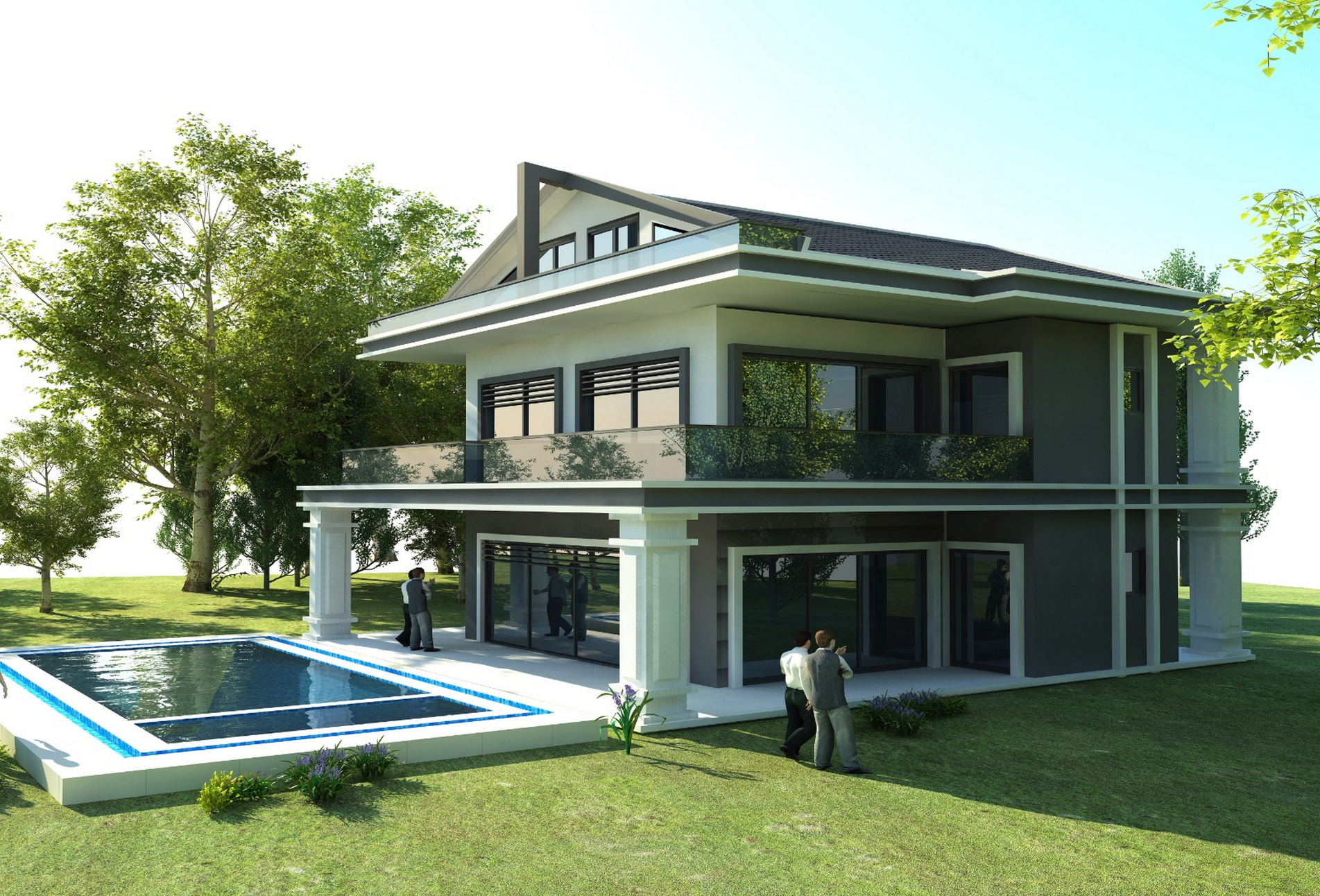 Luxury 4 Bedroom Villa with Open Sea View