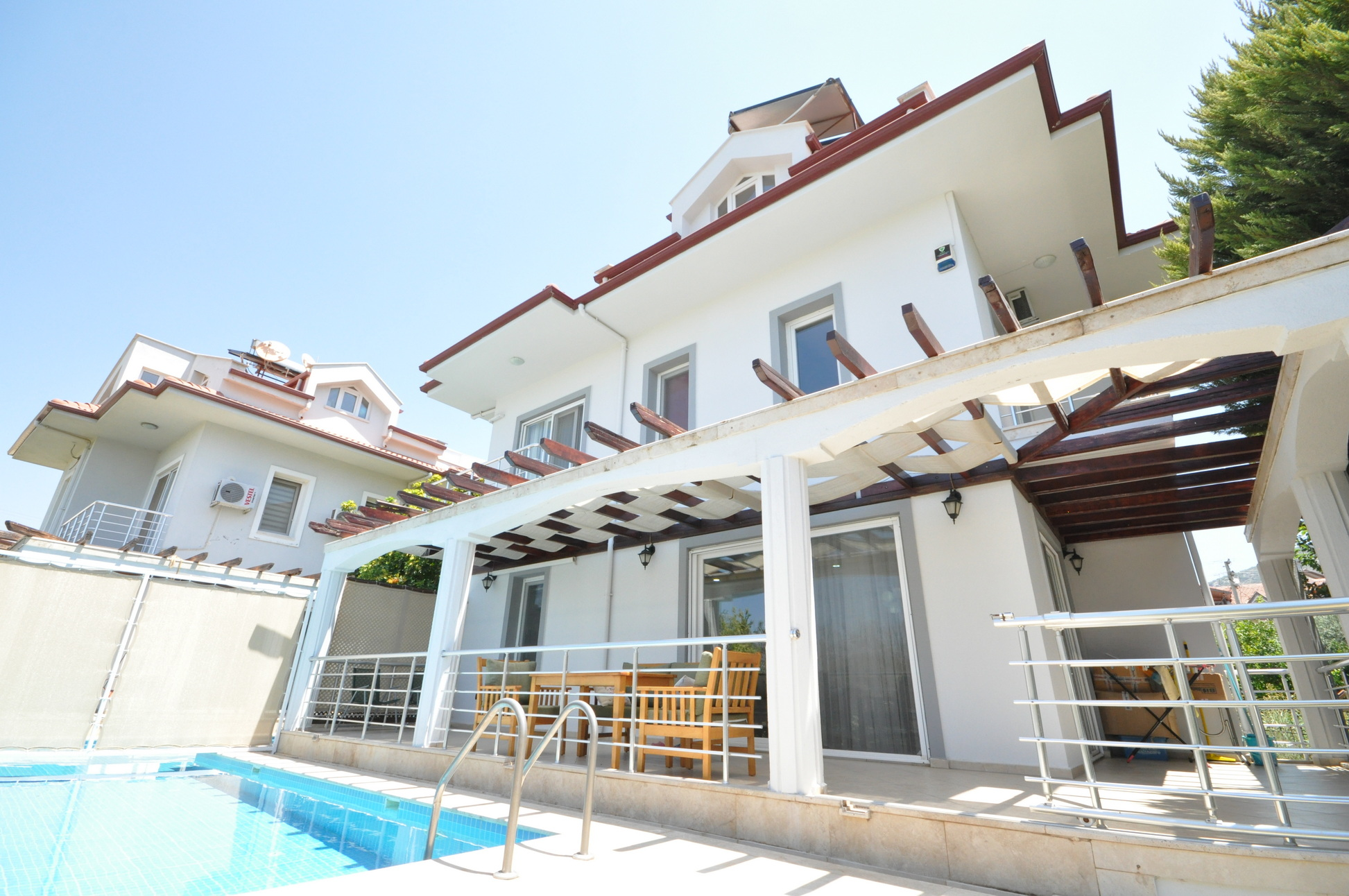 4 Bedroom Detached Villa with Shared Pool for Sale in Fethiye