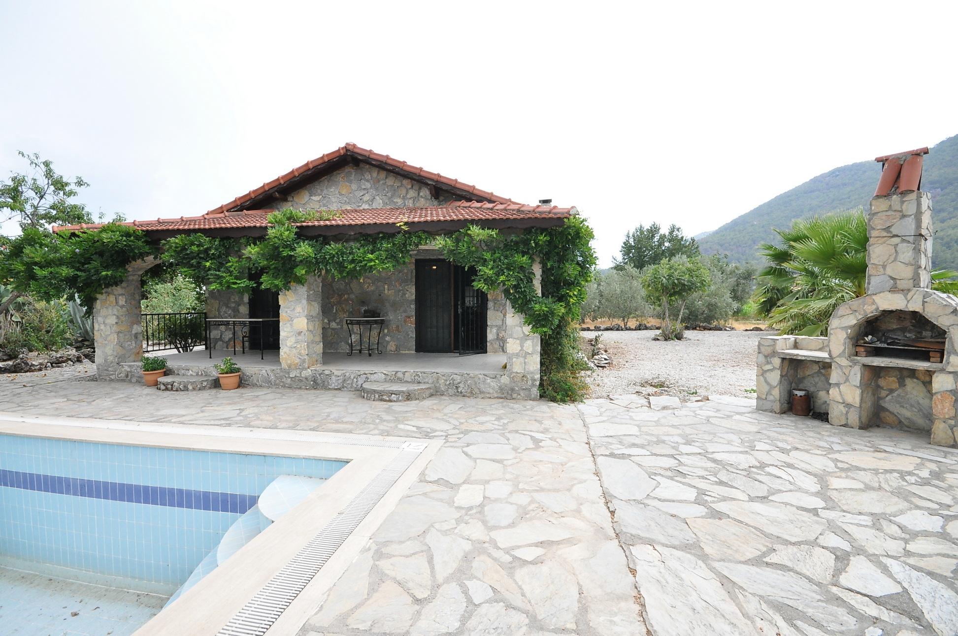 Stone Cottage with Pool on Large Plot in Ortakoy Fethiye